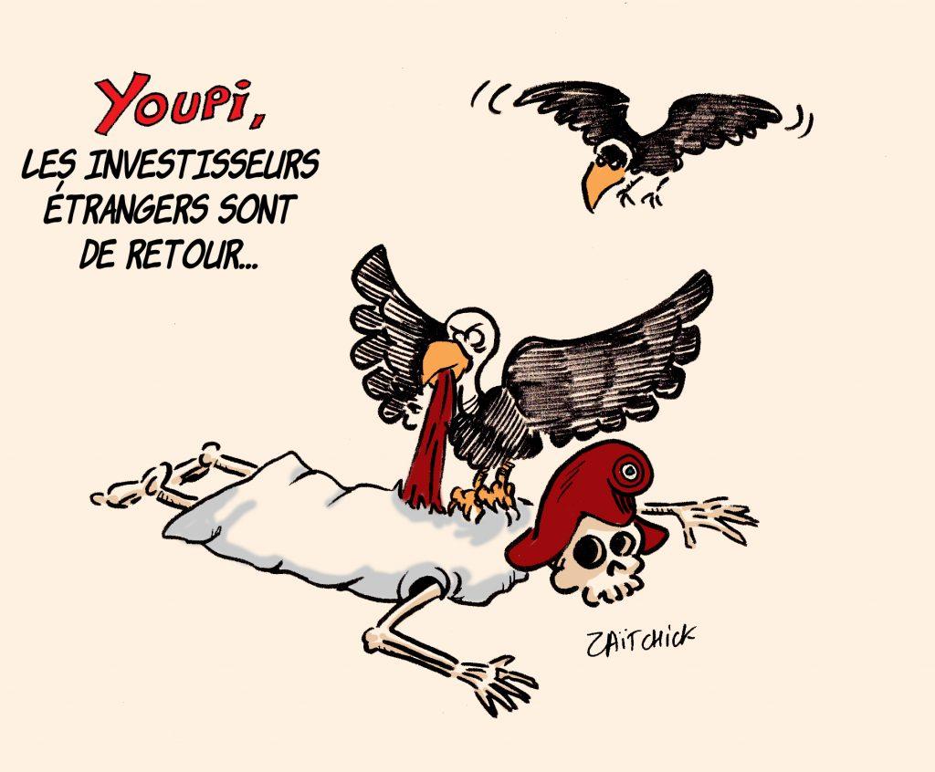dessins humour coronavirus Marianne image drôle retour investisseurs étrangers