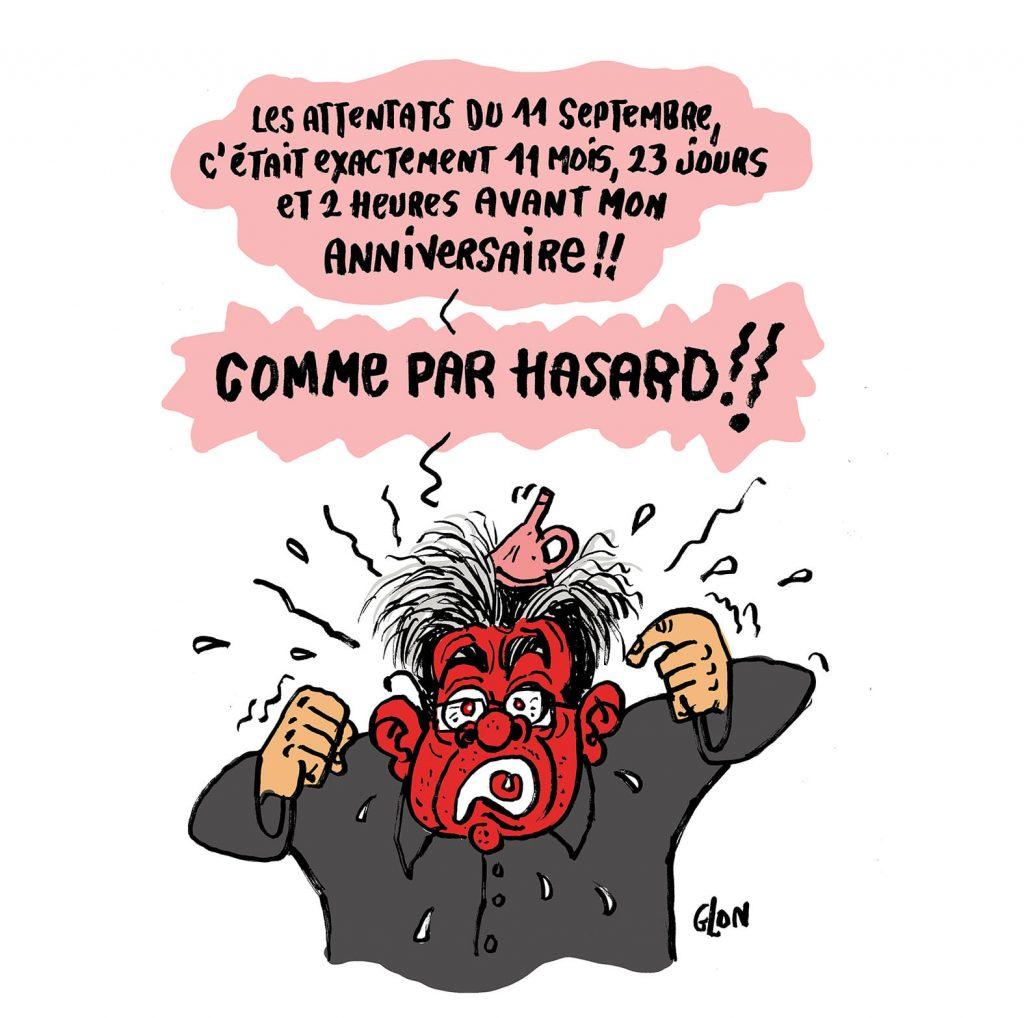 dessin presse humour Jean-Luc Mélenchon image drôle complotisme attentats présidentielle