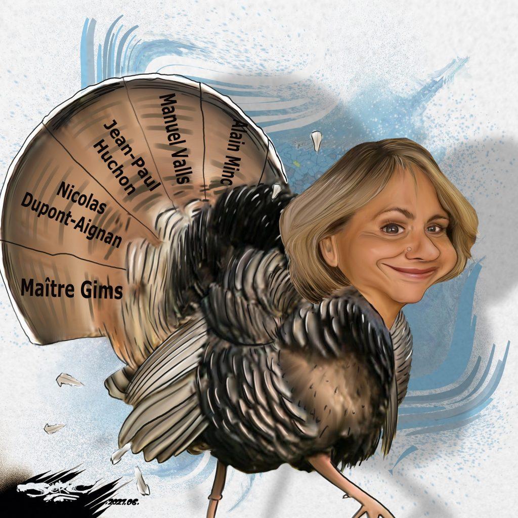 dessin presse humour élections régionales image drôle Valérie Pécresse dindon Île-de-France
