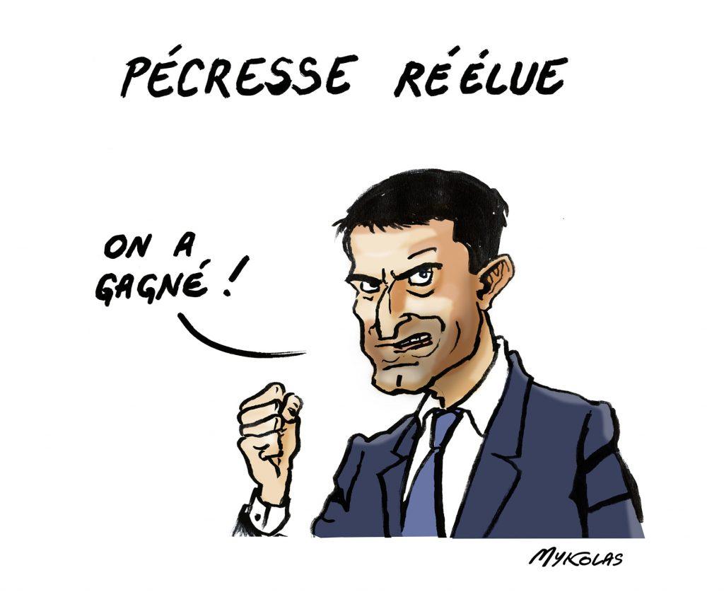 image drôle élections régionales dessins humour victoire Valérie Pécresse Manuel Valls