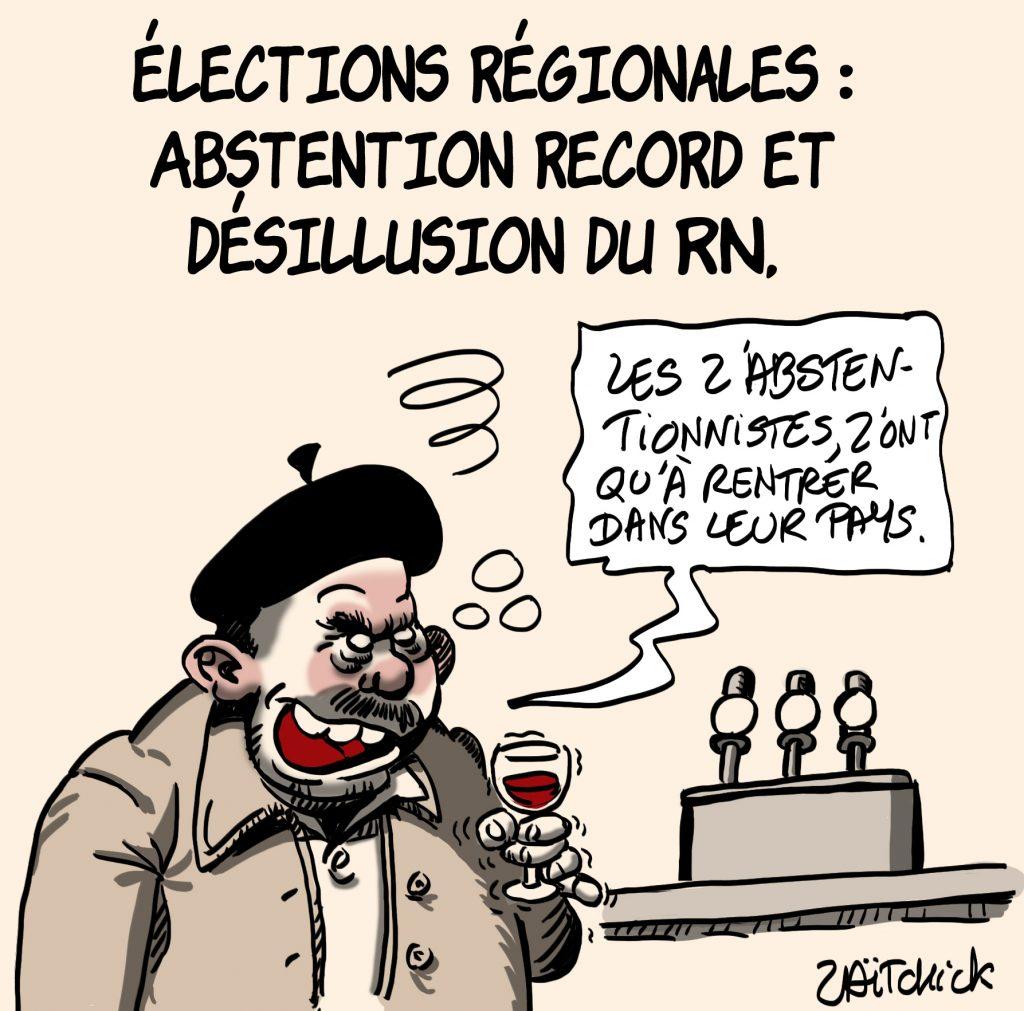 dessins humour élections régionales image drôle record abstention désillusion RN