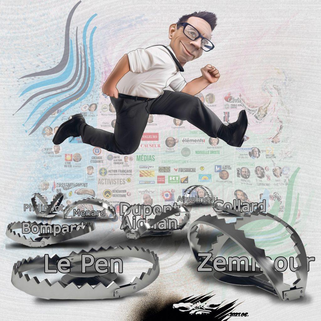dessin presse humour idées extrême-droite image drôle piège Éric Zemmour