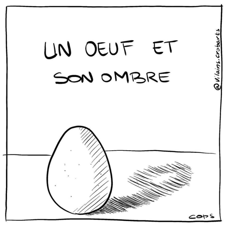 gag image drôle œuf ombre image drôle nombre neuf