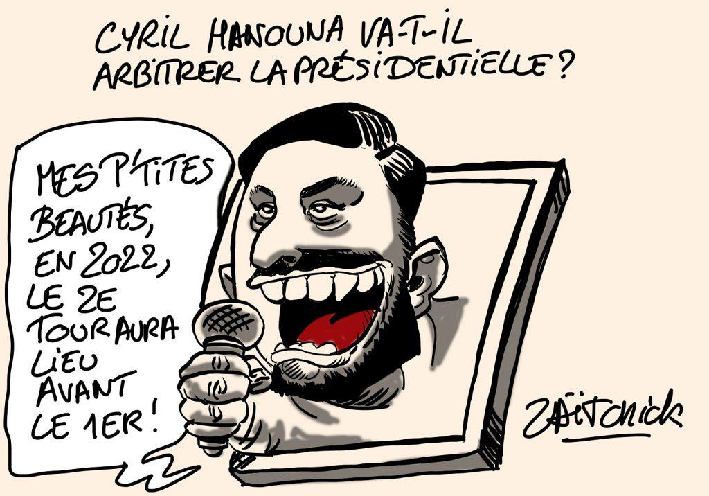dessins humour Cyril Hanouna image drôle élection présidentielle 2022