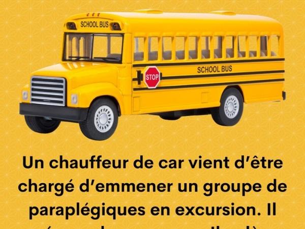 bus, blague bus, paraplégique, blague paraplégique, handicapé, blague handicapé, accident, blague accident, chauffeur, blague chauffeur, vitesse, blague vitesse, humour