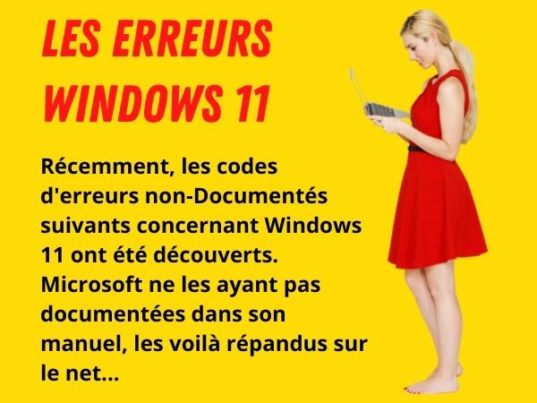 blague informatique, blague Windows 11, blague erreurs, blague Microsoft, blague documentation, blague codes d'erreurs, humour