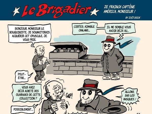 image drôle Le Brigadier complotisme complotiste dessin humour complétiste complétisme