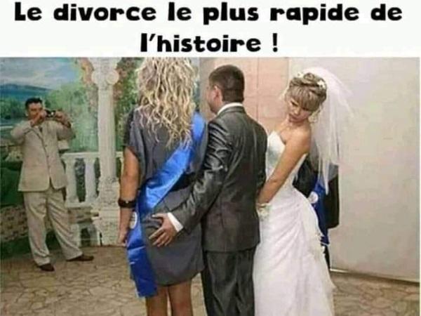 dessin humour mariage divorce image drôle vitesse rapidité