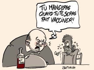 dessins humour vaccination coronavirus chantage image drôle pass sanitaire obligation