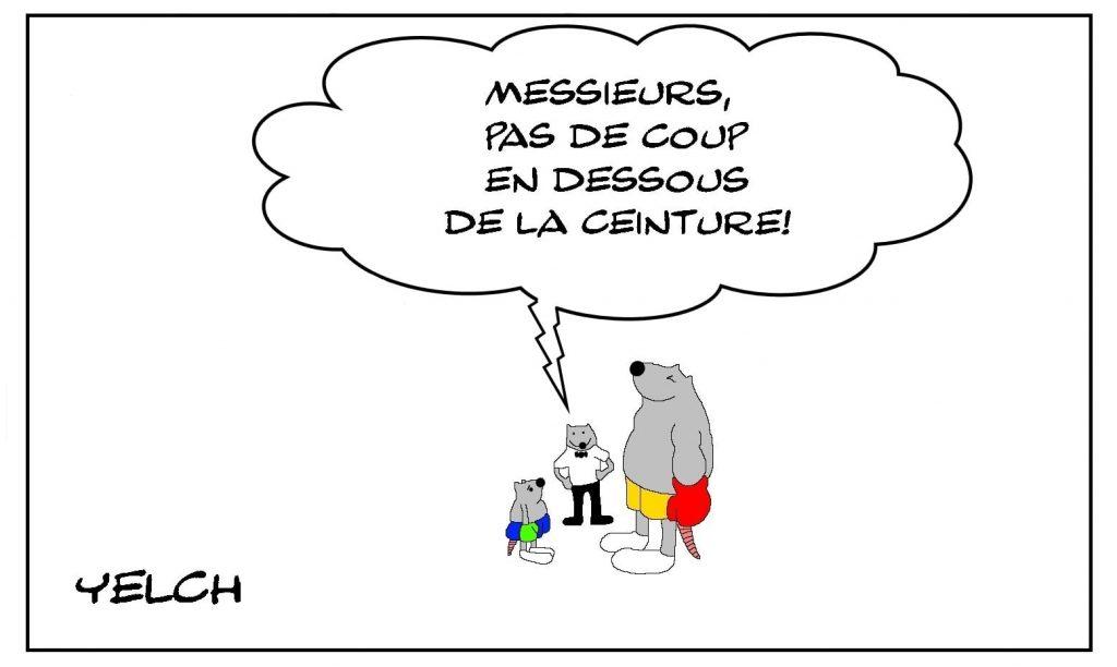 dessins humour boxe boxeur image drôle coups ceinture