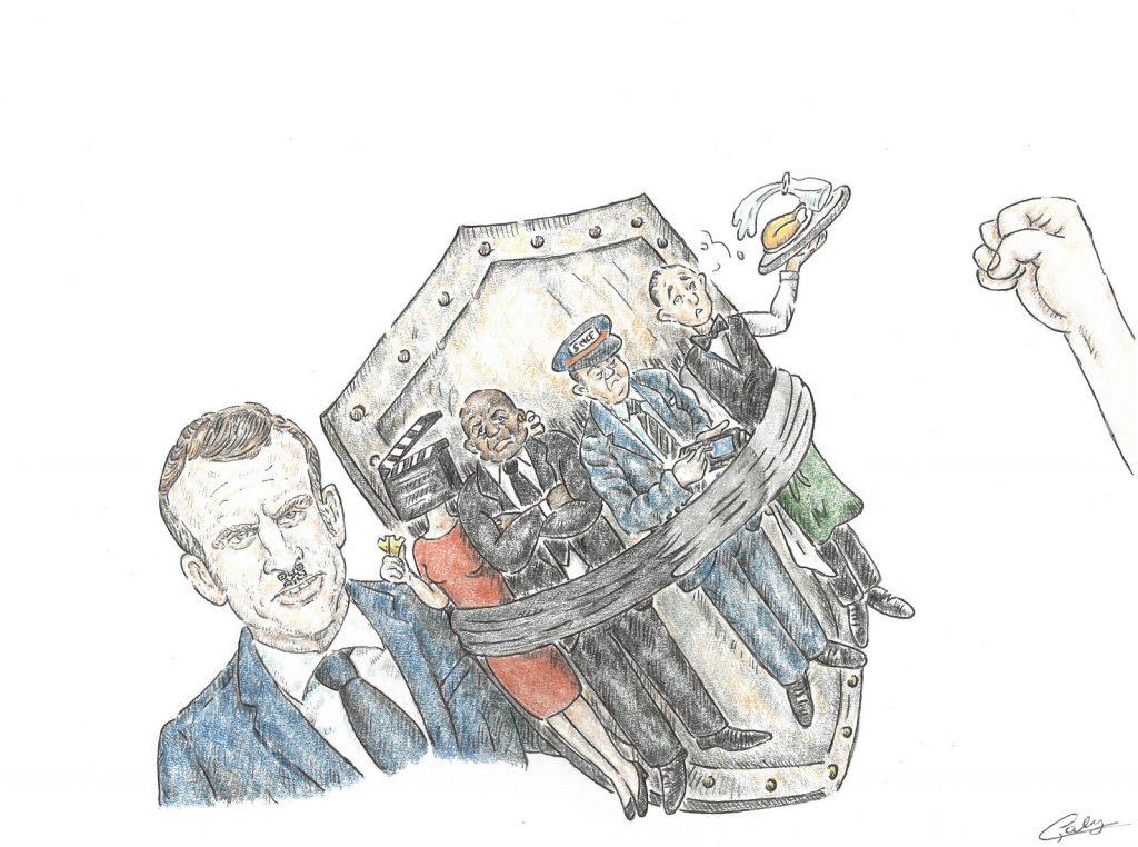 dessin presse humour pass sanitaire coronavirus image drôle Emmanuel Macron