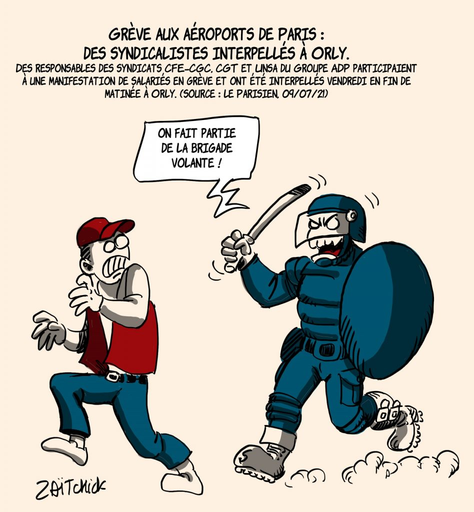 dessins humour Aéroports de Paris grève image drôle interpellation syndicalisme