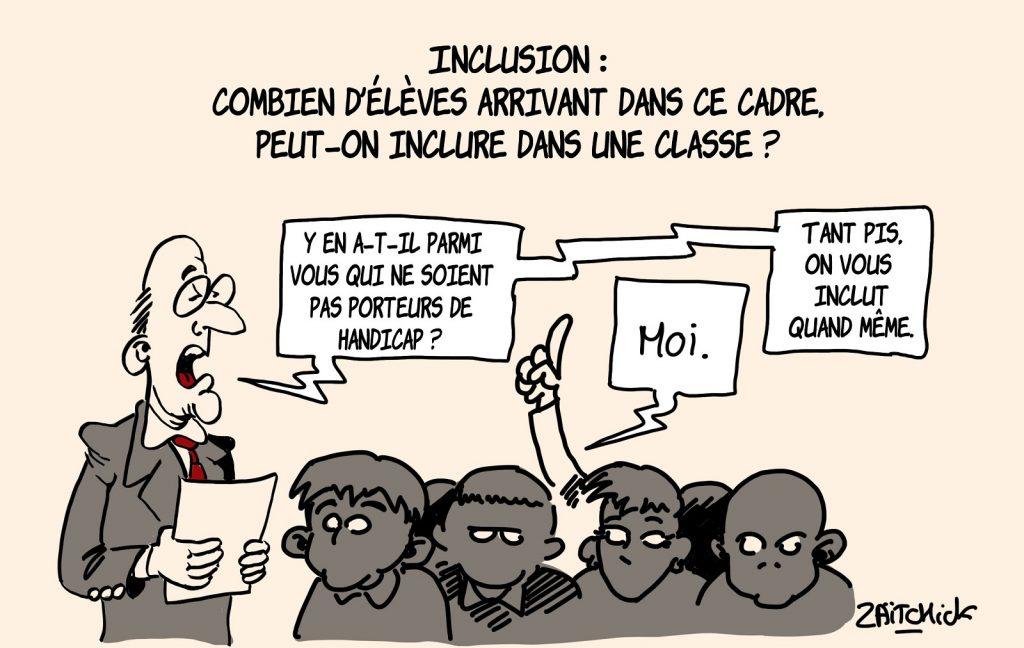 dessins humour Éducation Nationale image drôle handicap classes inclusives