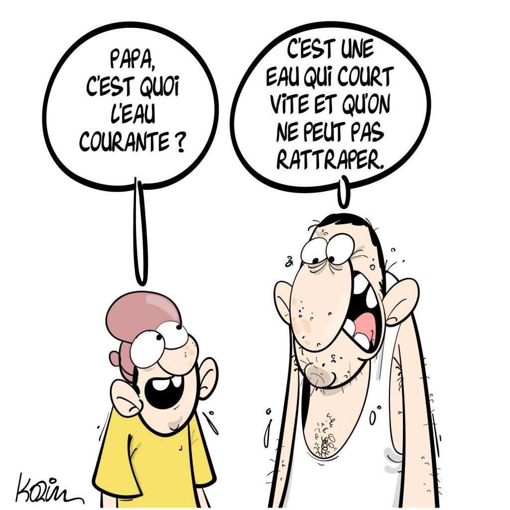 dessin presse humour Algérie eau courante image drôle coupure pénurie Alger
