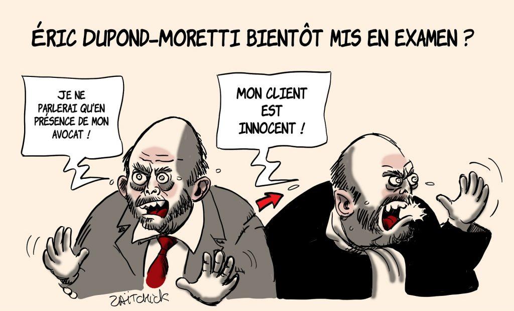dessins humour Éric Dupond-Moretti image drôle mise en examen