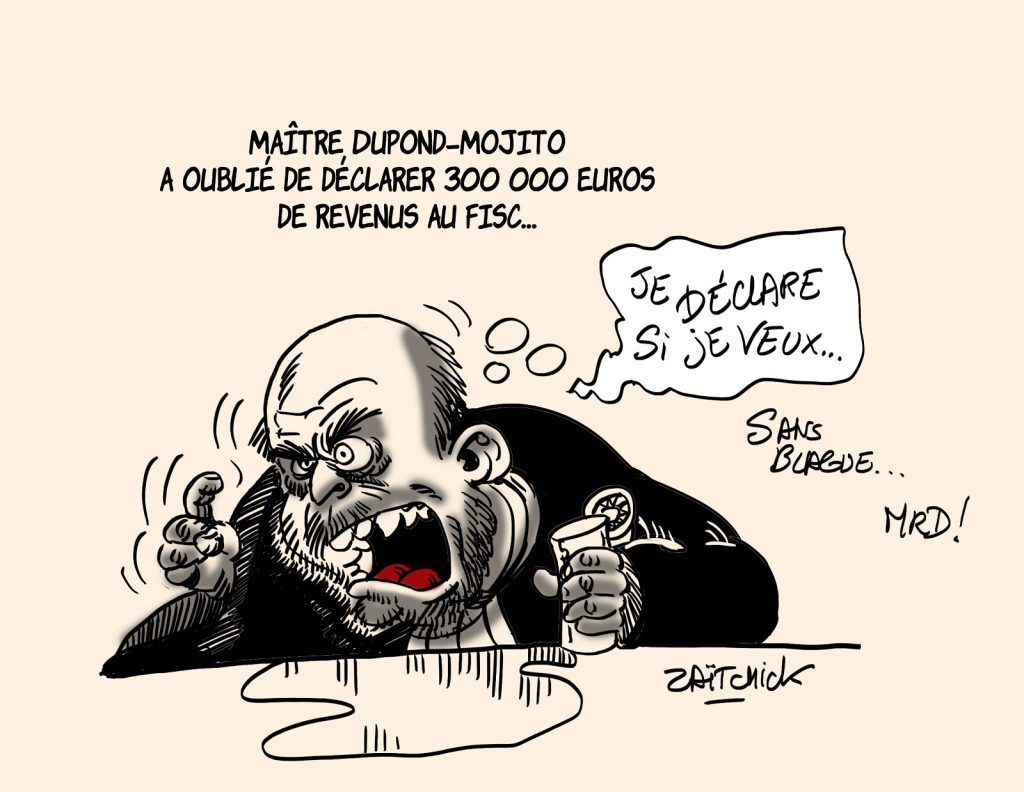 dessins humour Éric Dupond-Moretti mojito image drôle oubli déclaration