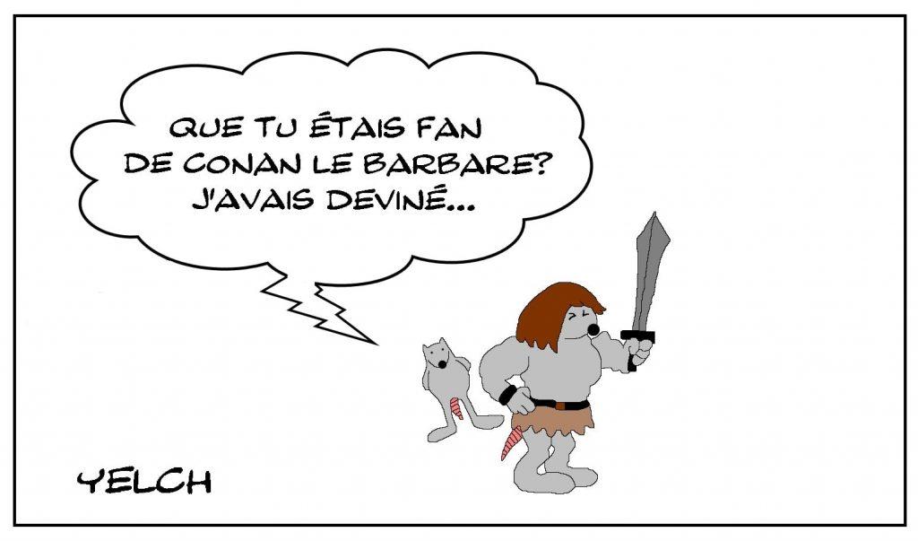 dessins humour Conan le Barbare image drôle fan cimmérien