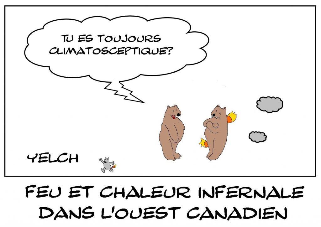 dessins humour Canada canicule image drôle chaleur infernale incendie