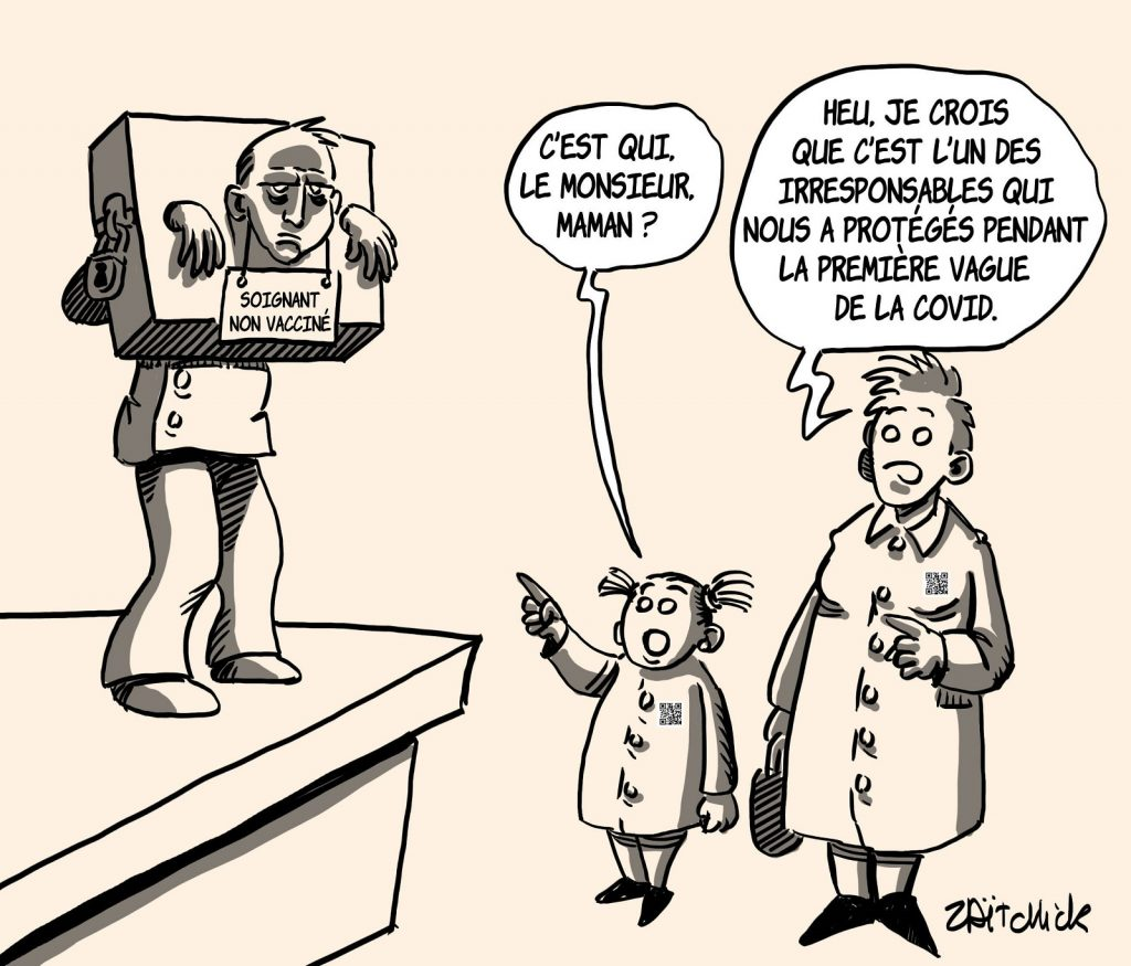 dessins humour coronavirus covid 19 soignants image drôle vaccination obligatoire