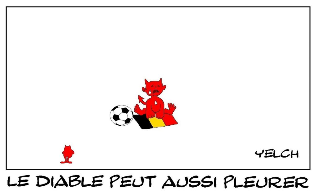 dessins humour Euro football Belgique image drôle élimination Diables Rouges