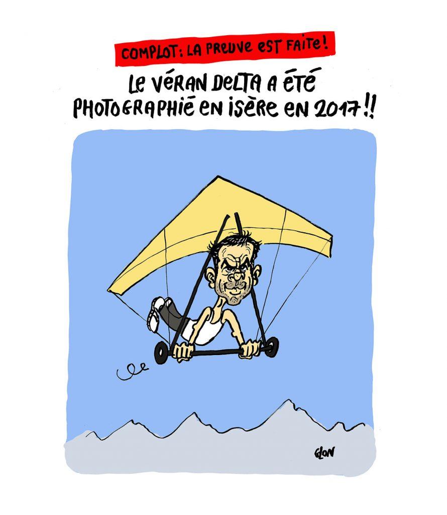 dessin presse humour coronavirus variant complotisme image drôle Olivier Véran