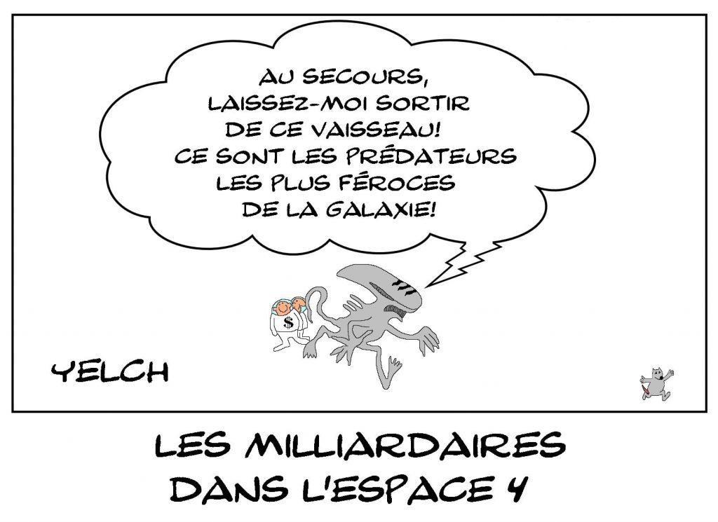 dessins humour milliardaires image drôle voyage espace