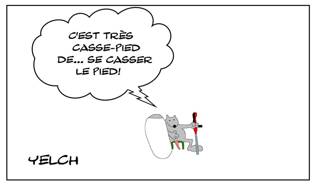 dessins humour fracture pied image drôle casse-pied