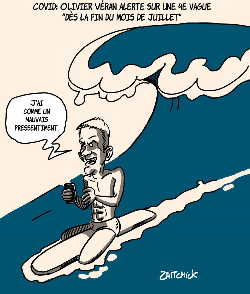 dessins humour coronavirus quatrième vague image drôle Olivier Véran
