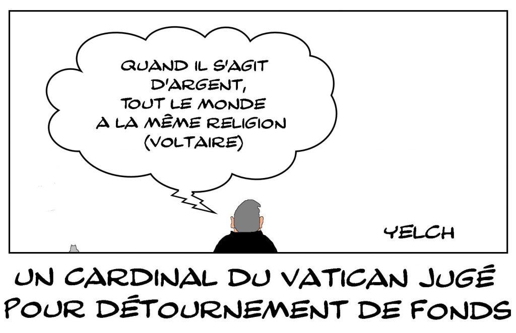 dessins humour Vatican cardinal image drôle détournement fonds