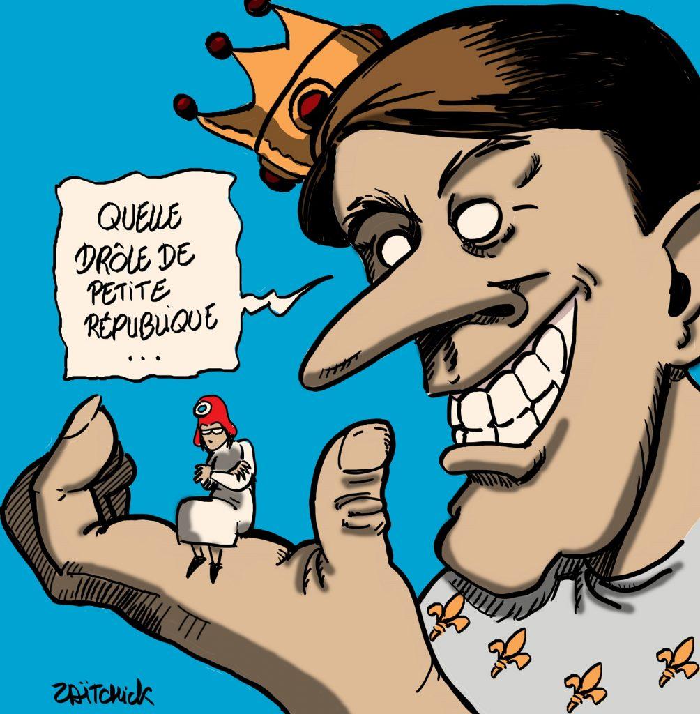 dessins humour coronavirus covid 19 République image drôle pass sanitaire Emmanuel Macron