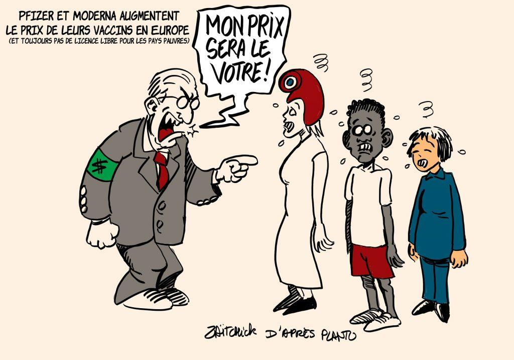 dessins humour vaccin coronavirus image drôle Pfizer Moderna augmentation