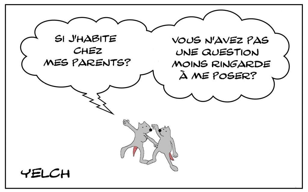 dessins humour habitation parents image drôle drague question ringarde