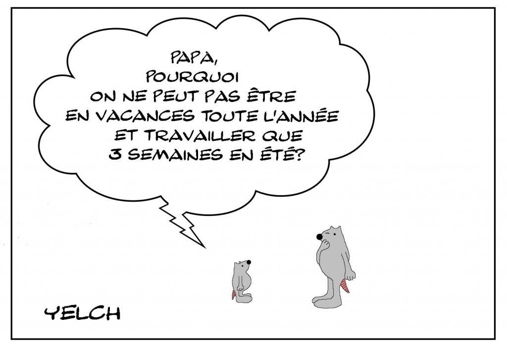 dessins humour durée vacances image drôle durée travail