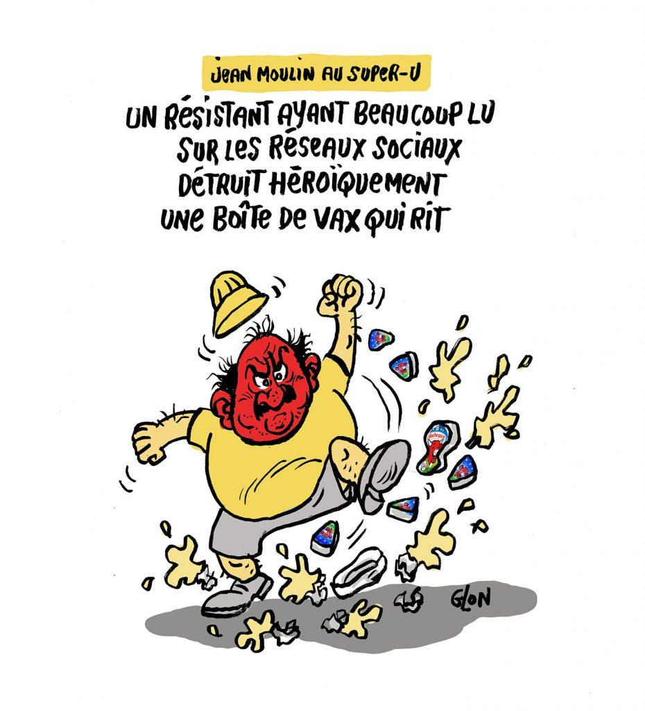dessin presse humour vaccin coronavirus covid 19 image drôle antivax antipass résistance