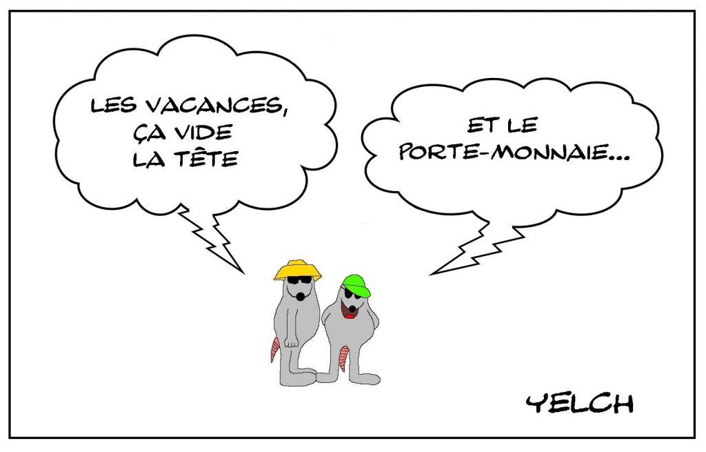 dessins humour vacances d'été image drôle coût des vacances