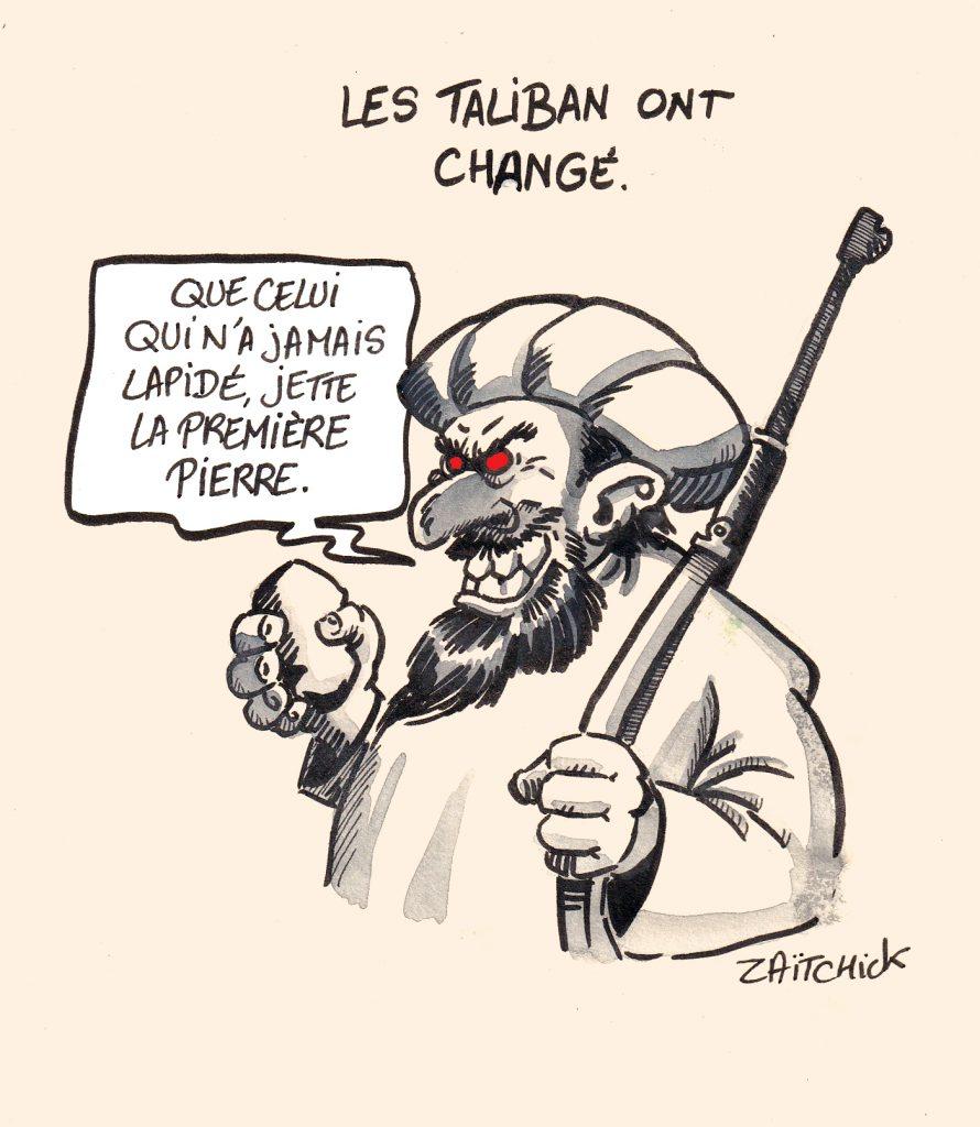 dessins humour Afghanistan retour Talibans image drôle femmes lapidations
