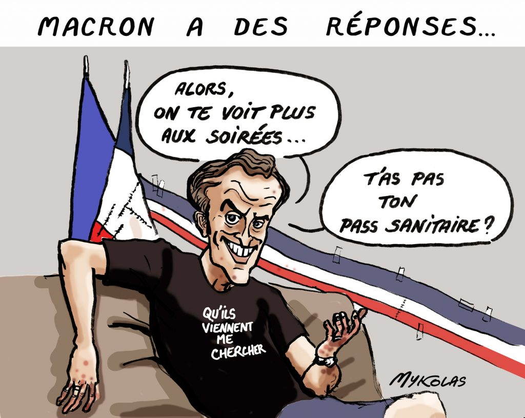 image drôle coronavirus covid 19 pass sanitaire image drôle Emmanuel Macron Tik Tok