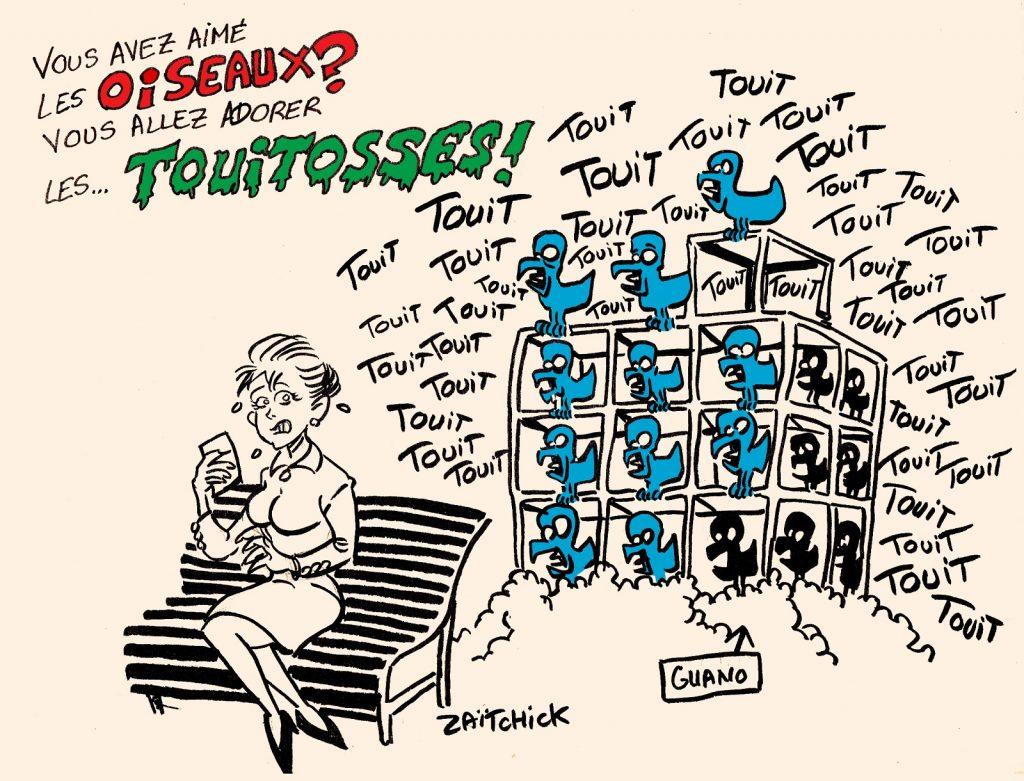 dessins humour réseaux sociaux twittos image drôle Alfred Hitchcock Les Oiseaux