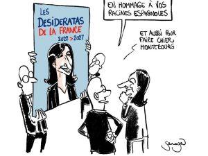 dessin presse humour Anne Hidalgo image drôle campagne présidentielle 2022