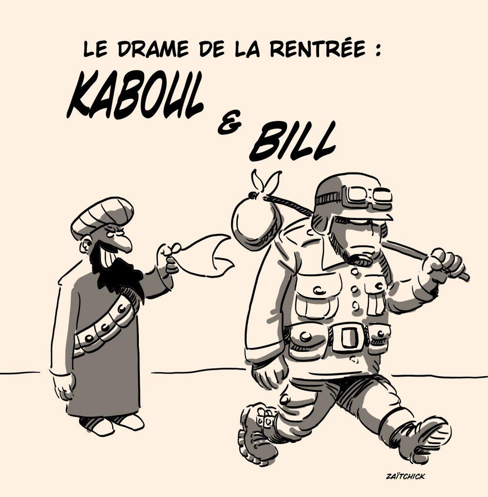 dessins humour rentrée Afghanistan image drôle Kaboul Taliban