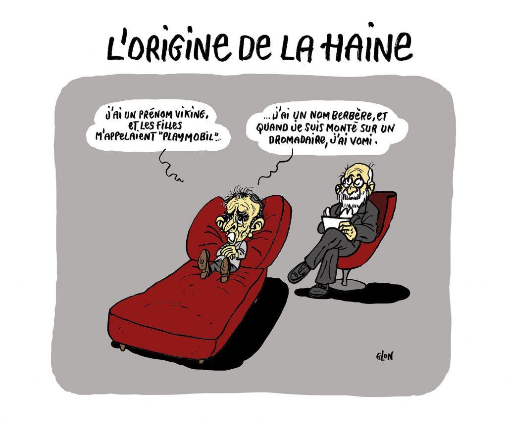 dessin presse humour Éric Zemmour image drôle origine haine