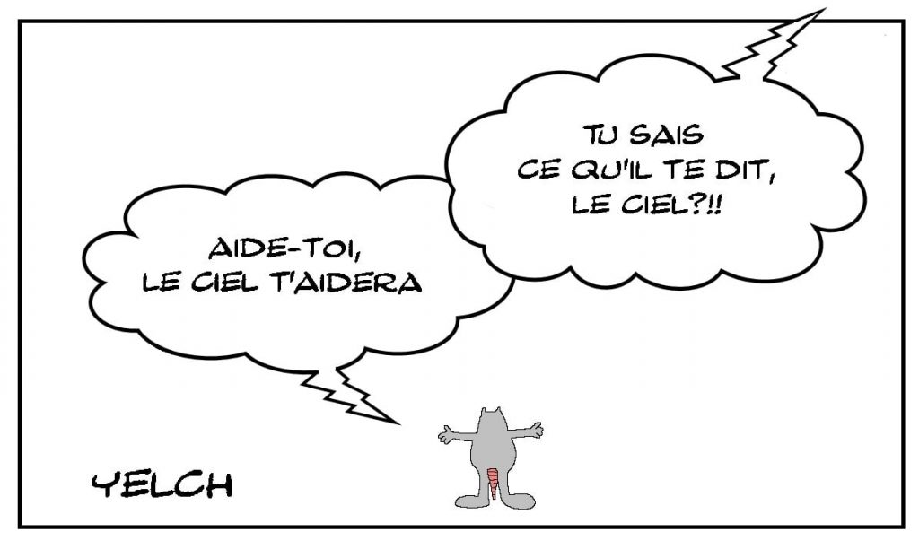 dessins humour aide ciel image drôle proverbe