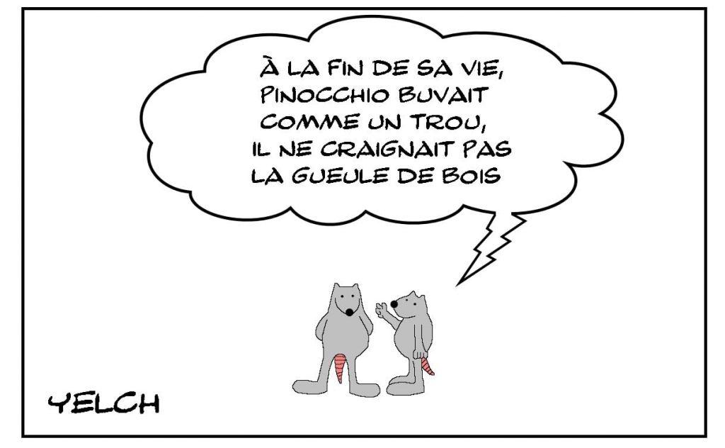dessins humour Pinocchio alcoolisme image drôle gueule de bois
