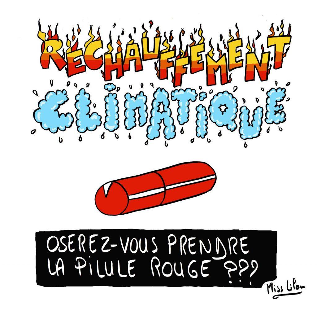 dessin presse humour rapport GIEC image drôle réchauffement climatique