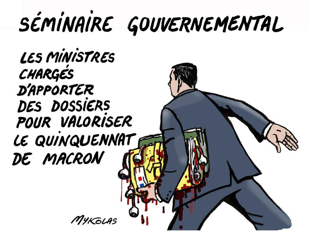 image drôle séminaire gouvernemental image drôle quinquennat Macron