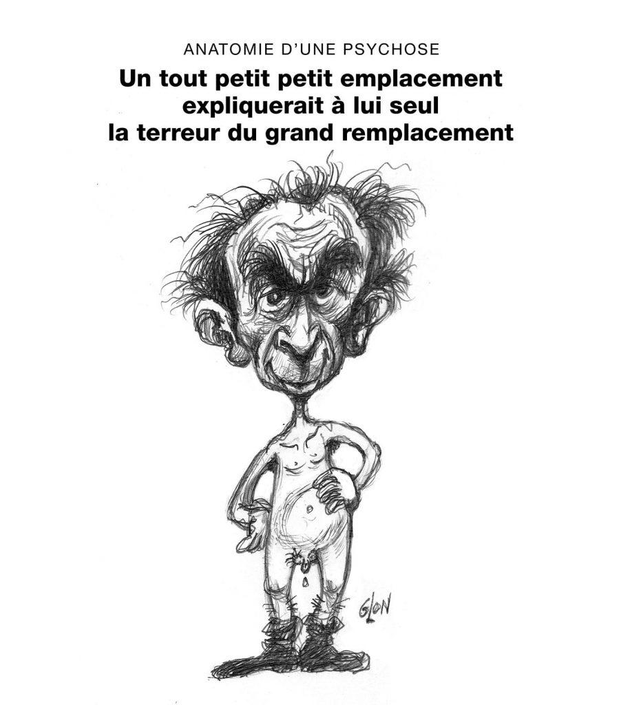 dessin presse humour Éric Zemmour image drôle grand remplacement