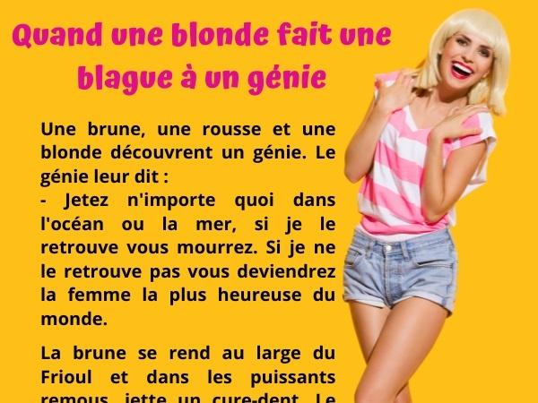 blague blonde, blague génie, blague mort, blague aspirine, blague gage, blague pari, humour drôle