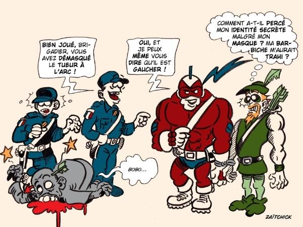image drôle Le Brigadier Green Arrow image drôle tueur à l'arc