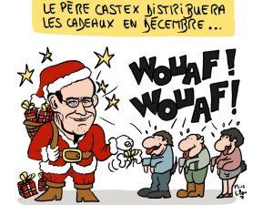 dessin presse humour Jean Castex image drôle indemnité inflation Père Noël