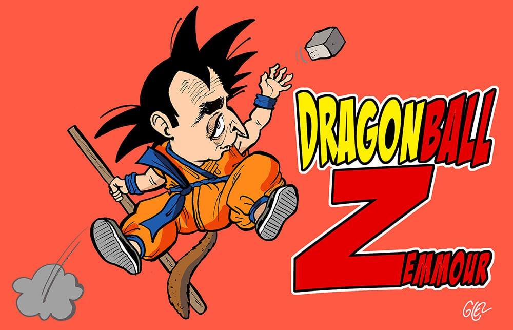 dessin presse humour Éric Zemmour Dragon Ball Z image drôle présidentielle 2022